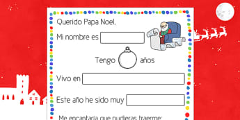 Letter to Father Christmas Procedure Spanish - spanish, letter, father christmas, procedure