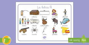 Tapiz de lecto: La letra Ñ - lecto, sonidos, lecto-escritura, fonemas, sonidos, consonantes, lengua P5, lengua 5AI, Lengua primer