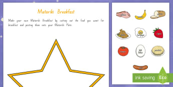 Matariki Breakfast Activity Sheet English/Te Reo Maori - New Zealand Matariki, Matariki, New Year, Maori New Year, Maori, Celebration, Festival