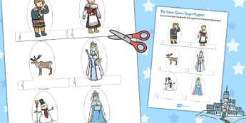 The Snow Queen Finger Puppets - puppet, craft, activity