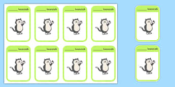 Beanstalk Themed Name Labels - EYFS, Early Years, name writing, beans, planting, beanstalk, plants, growth