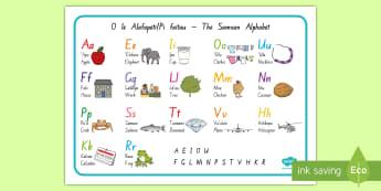Samoan Alphabet Mat - Samoa, Samoan Language Week, alphabet, reading, writing, letters