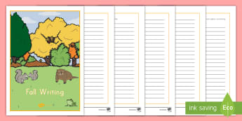 Fall Writing Activity Booklet - Language, English, Writing, Fall, Writing Prompts, Fall Writing Prompts