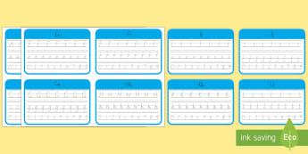 Year 5 and 6 New Zealand Cursive Handwriting Activity Sheets Flashcards - New Zealand Handwriting Resources, Cursive handwriting, Year 5, Year 6, handwriting practice, flashc