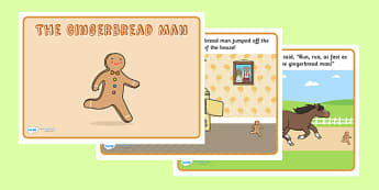 The Gingerbread Man Story Printable - Gingerbread man, traditional tales, tale, fairy tale, gingerbread, little old man, little old woman, fox, run run