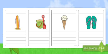 Summer Simple Sentence Writing Frames - summer, pictures, writing frames. simple sentence, sentences,