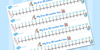 The Tale of Two Bad Mice Number Lines 0-20 - two bad mice, number lines