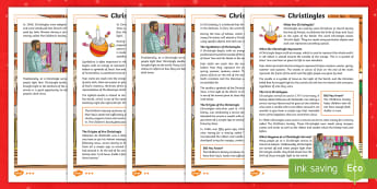 KS2 Christingles Differentiated Fact File - advent, christmas, christianity, celebration, light