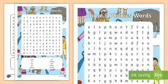 Phase 5 Words Word Search - word search, wordsearch, phase,5, activity, letters and sounds