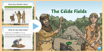 The Céide Fields PowerPoint - ROI - The World Around Us - The Ceide Fields, stone age, neolithic, farmers, stone, mayo, history, s