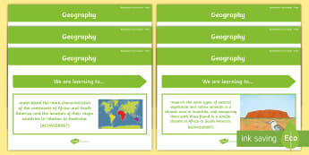 Year 4 Geography Australian HASS Content Descriptor Statements Display Pack  - Australian HASS Content Descriptor Statements,Australia