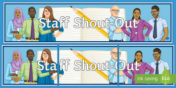 Secondary Staff Shout-Out Board Display Banner  - KS3/4 Pastoral Support Material