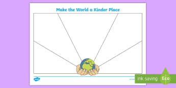 KS1 World Kindness Day Writing Activity Sheet - Kindness, Friendship, Caring, Anti-Bullying Week, Random Acts of Kindness