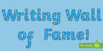 Writing Wall of Fame Display Lettering - writing, display, wall
