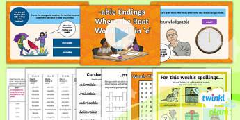 PlanIt Y6 Term 1B W2: Words Ending in  -able Spelling Pack