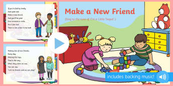 Make a New Friend Song PowerPoint