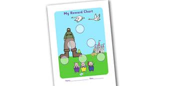 Traditional Tales Sticker Reward Chart 15mm - reward chart, sticker chart, sticker reward chart, traditional tales reward chart, traditional tales chart