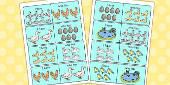 Ugly Duckling 'I Have, Who Has' Loop Cards