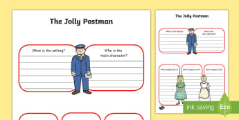 Book Review Writing Frame to Support Teaching on The Jolly Postman - the jolly postman, book review, writing frame, book review writing frame, writing aid, writing template