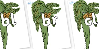 Initial Letter Blends on Trick One to Support Teaching on The Enormous Crocodile - Initial Letters, initial letter, letter blend, letter blends, consonant, consonants, digraph, trigraph, literacy, alphabet, letters, foundation stage literacy