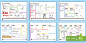 Year 4 Differentiated Maths Mats - Year 4, maths, mathematics, numeracy, activity mats, fast finisher, problem solving, addition, subtr