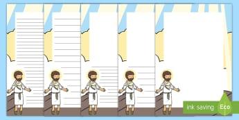KS1 Ascension Day Page Border Pack - KS1, Key Stage One, Year 1, Year 2, Year One, Year Two, Ascension day, (25.5.17), Easter, ascend, Go