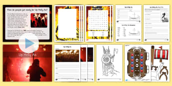 CfE Second Level Up Helly Aa Activity Pack - vikings, scotland, scottish, Shetland Islands, yule, winter,
