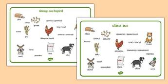 Găinușa cea roșcată - Planșă cu imagini și cuvinte - găinușa, găina, cea roșcată, poveste, planșă, imagini, cuvinte, materiale, materiale didactice, română, romana, material, material didactic