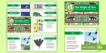 The Origin of Fire Story Cards - Origin of Fire, Outdoor and Woodland Learning, Wonder Investigate Learn Discover, Forest School, Out