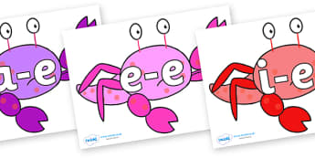 Modifying E Letters on Crab to Support Teaching on Sharing a Shell - Modifying E, letters, modify, Phase 5, Phase five, alternative spellings for phonemes, DfES letters and Sounds