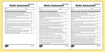 KS1 Maths Exemplification Checklist - Maths Assessment