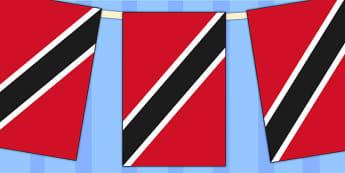 Trinidad and Tobago Flag Display Bunting - geography, commonwealth