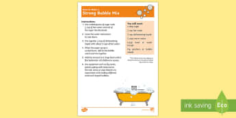 Strong Bubble Mix Recipe - bubble, easy, cheap, fun, investigation, play, water,