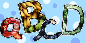 Healthy Eating Themed Photo Display Lettering - healthy eating