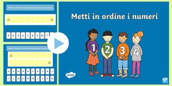 Metti in Ordine i Numeri 0 10 e 0 20 Presentazione Powerpoint - metti, in, ordine, i, numeri, presentazione, powerpoint, matematica, numerali, esercizio, italiano,