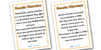 Genetic Disorders Posters - genetic disorders, diversity, discrimination, differences, respect, understanding, banner, good behaviour, posters, pshe, display