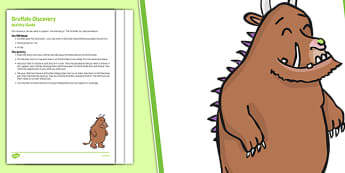 Sensory Activity To Support The Teaching On The Gruffalo Busy Bag Resource Pack For Parents - Sensory, Julia Donaldson