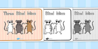 Three Blind Mice Story Sequencing - sequence, stories, mouse