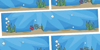 Small World Background to Support Teaching on Commotion In The Ocean - Story, book, resources, Giles Andreae, David Wojtowycz, small world, background, display, banner, teaching resources, book resources, sea creatures, sea, book resource