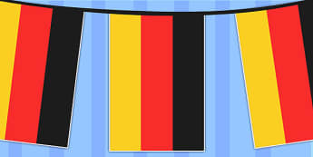 Germany A4 Flag Bunting - countries, geography, flags, country