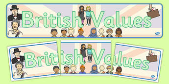 British Values Display Banner - british, values, display, banner