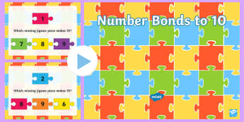 Number Bonds To 10 Jigsaw PowerPoint - New Zealand, maths, jigsaw, number bonds, addition, adding, addition to 10, 1-10, number bonds to 10