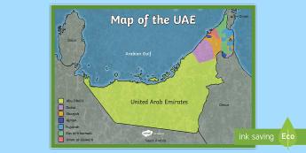 UAE Map - UAE, ADEC, MOE,, emirates, information, map