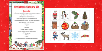 Christmas Sensory Bin and Resource Pack - christmas, sensory bin, resource, pack