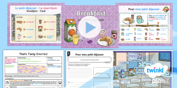 French: That's Tasty!: Breakfast Year 5 Lesson Pack 3 - french, languages, grammar, food, breakfast