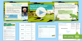 GCSE Poetry Lesson Pack to Support Teaching on 'Death of a Naturalist' by Seamus Heaney - Heaney, Death, Naturalist, Poetry, Eduqas, Literature