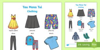 Tau Mena Tui - Clothing in Niuean Language Activity - Niue, niuean, niuean language week, tau mena tui, clothing, pasifika
