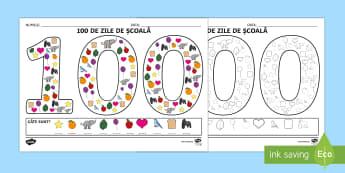 100 de zile de școală Fișă de lucru - 100 de zile de școală, română, diplome, sărbători, materiale, diplomă, fișe de lucru, ,Roman - 100 de zile de școală, română, diplome, sărbători, materiale, diplomă, fișe de lucru, Romani