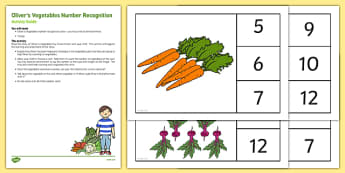Oliver's Vegetables Number Recognition Busy Bag Resource Pack for Parents