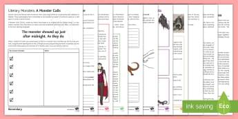 Literary Monsters Activity Pack - Halloween, monsters, literature, antagonist, beowulf, grendel, sandman, hoffmann, myth, fairytale, f